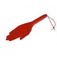 Шлёпалка-ладонь Sitabella collection, кожа красная