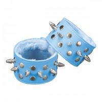 Напульсники Sitabella collection с шипами, голубые