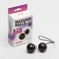 Шарики вагинальные,массажные, чёрные (пластик)