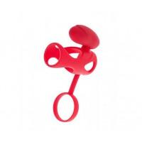 Насадка с клиторальным стимулятором TOYFA BLACK&RED, красная