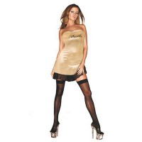 Сексуальное платье с надписью HUSTLER