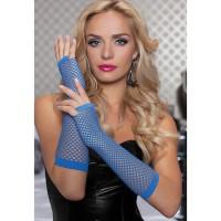 Женские перчатки вечернего стиля, голубые