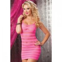 Розовое платье в полоску Seven Till Midnight