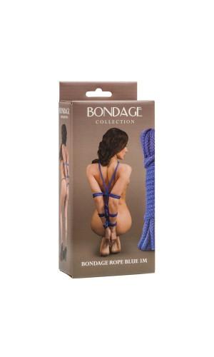 Веревка Bondage Collection Blue 3m, голубая