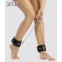 Оковы для ног ZADO FETISH, 100% кожа, чёрные