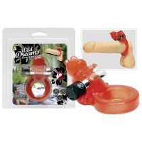 Насадка для клитора с вибрацией Jelly Bear, красная