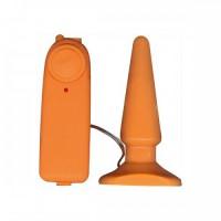 Анальная пробка FUNKY VIBRATING ORANGE, оранжевая